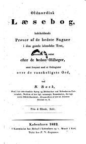Oldnordisk Laesebog indeholdende Prover af de bedste Sagaer i den gamle islandske Text etc