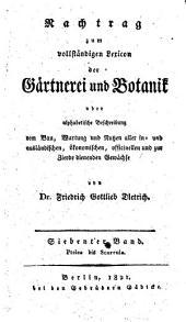 Gartnerei und Botanik: Band 7