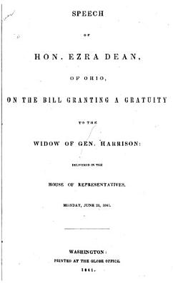Speech on the Bill Granting a Gratuity to the Widow of Gen.Harrison
