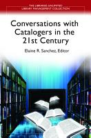 Conversations with Catalogers in the 21st Century PDF