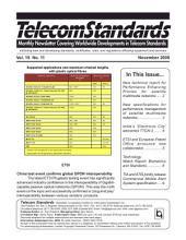 Telecom Standards Monthly Newsletter November 2009