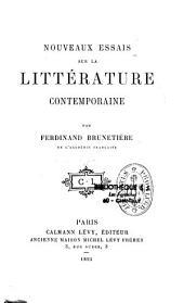 Nouveaux essais sur la littérature contemporaine