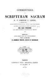 In Jeremiam, Threnos, Baruch et Ezechielem