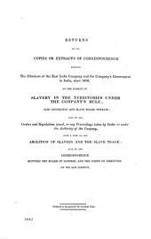 East India: Slavery, Volume 5