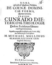 Aphorismi et quaestiones theol. de coenae dominicae forma