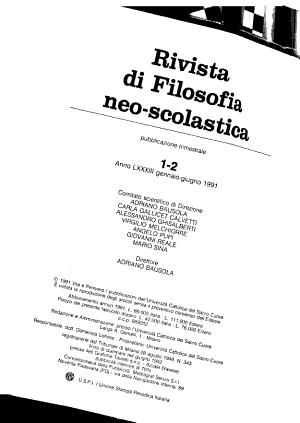 Rivista di filosofia neo scolastica PDF