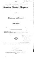 The American Baptist Magazine  and Missionary Intelligencer PDF