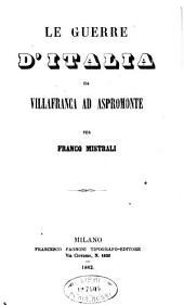 Le guerre d'Italia da Villafranca ad Aspromonte