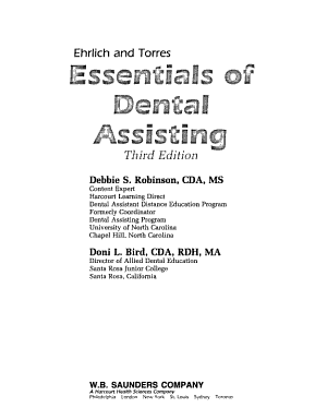 Ehrlich and Torres Essentials of Dental Assisting PDF