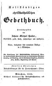 Vollständiges christkatholisches Gebethbuch: Andachtsübungen für die Fronleichnams-Oktav, Band 5
