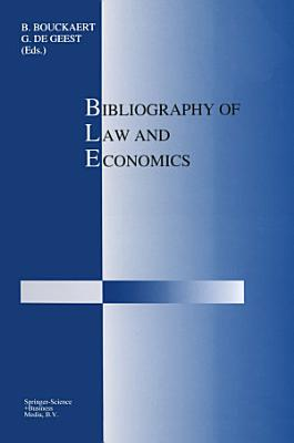 Bibliography of Law and Economics PDF