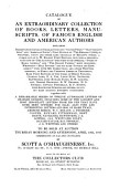 Catalogue Of An Extraordinary Collection Of Books Letters Manuscripts