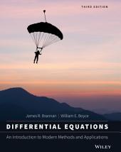Differential Equations: An Introduction to Modern Methods and Applications, 3rd Edition: Edition 3