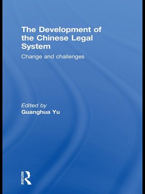 The Development of the Chinese Legal System PDF