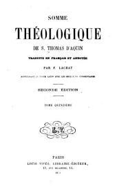 Somme théologique de S. Thomas D'Aquin: Volume15
