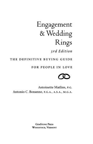 Engagement   Wedding Rings PDF