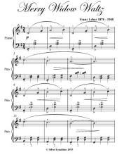 Merry Widow Waltz Elementary Piano Sheet Music