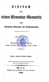 Lehrbuch der reinen Elementar-Geometrie. 2., verb. Aufl