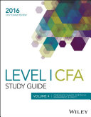 Wiley Study Guide for 2016 Level I CFA Exam  Corporate finance  portfolio management   equity