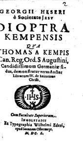 Dioptra Kempensis: Summula Constantino Caietani apparatui opposita