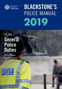 Blackstone s Police Manuals Volume 4  General Police Duties 2019 PDF