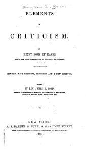 elements of criticism