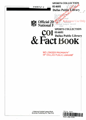 The Official NFL 2000 Record and Fact Book PDF
