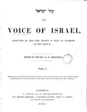 The Voice of Israel  ed  by R H  Herschell PDF