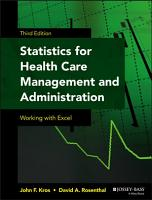 Statistics for Health Care Management and Administration PDF