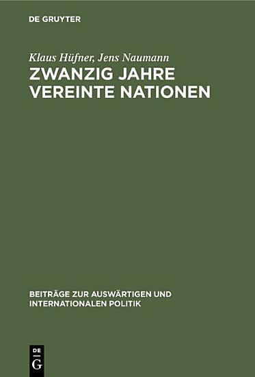 Zwanzig Jahre Vereinte Nationen PDF