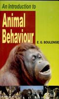 An Introduction to Animal Behaviour PDF