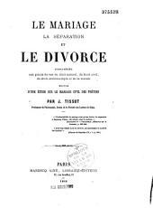 Le Mariage la Separation et le Divorce