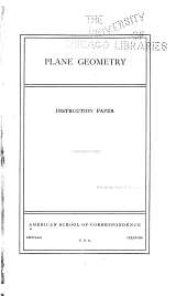 Plane Geometry: Instruction Paper