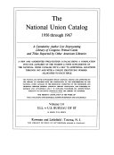 Download National Union Catalog Book