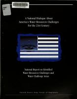 A National Dialogue about America s Water Resources Challenges for the 21st Century PDF