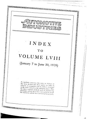 Automotive Industries  the Automobile