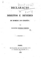 Declaração dos direitos e deveres de homem e do cidadão