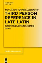 Third Person Reference in Late Latin