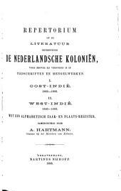 Repertorium op de literatuur betreffende de Nederlandsche koloniën, voor zoover zij verspreid is in tijdschriften en mengelwerken: Volume 2