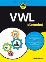 VWL f  r Dummies PDF