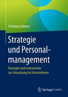 Strategie und Personalmanagement PDF