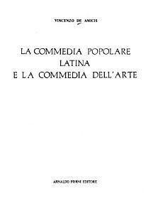 La commedia popolare latina e la commedia dell arte PDF