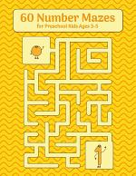 60 Number Mazes for Preschool Kids Ages 3-5