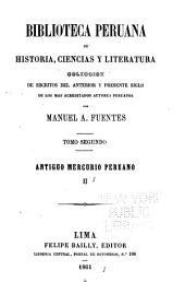 Biblioteca peruana de historia, ciencias y literatura: Volumen 2