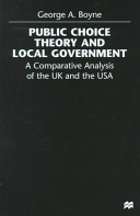 Public Choice Theory and Local Government