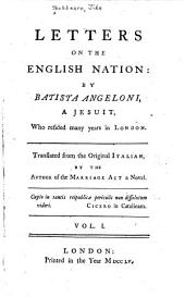 Letters on the English Nation: Volume 1