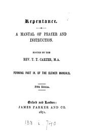 Repentance, a manual of prayer and instruction