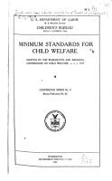 Minimum Standard for Child Welfare PDF
