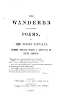 The Wanderer and Other Poems PDF
