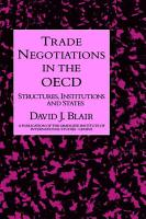 Trade Negotiations In The Oecd PDF